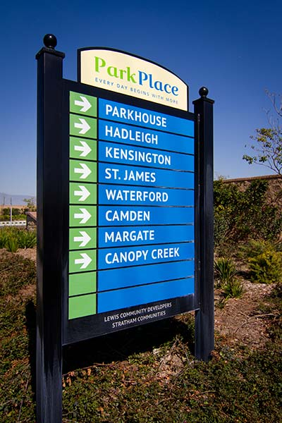 Outdoor signage for Park Place